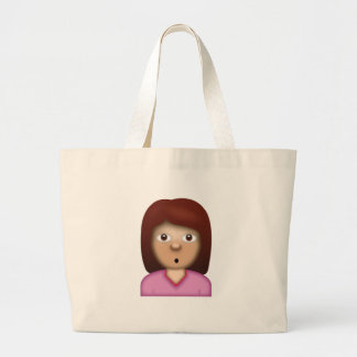 Person with Pouting Face Emoji Large Tote Bag