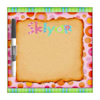 Personaized Skylar Dry Erase Board
