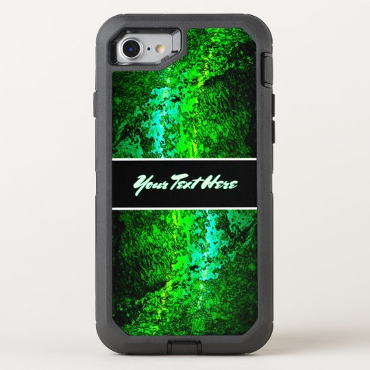 Personal Abstract Green Text OtterBox Defender iPhone 8/7 Case