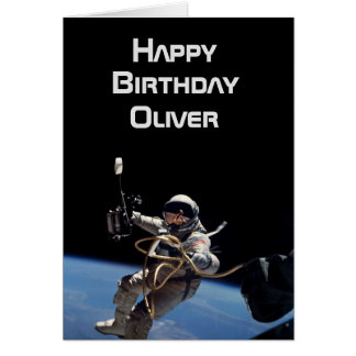 Personal Astronaut Space Walk Birthday Card