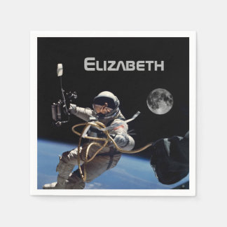 Personal Astronaut Space Walk Party Disposable Napkins