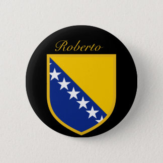 Personal Bosnia Flag 2 Inch Round Button