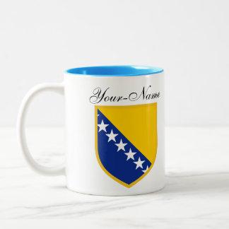 Personal Bosnia Flag Two-Tone Coffee Mug