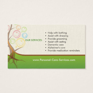 Personal Care Services Business Card