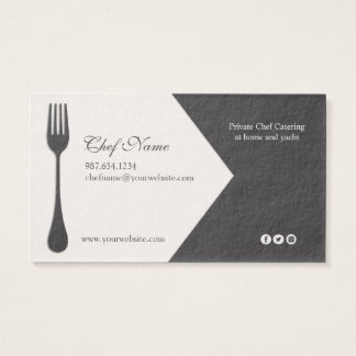Personal Chef, Catering, Executive chef Business Card