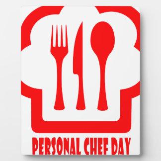 Personal Chef Day - Appreciation Day Plaque