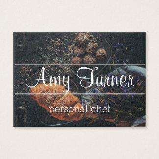 personal chef modern elegant business card