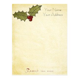 personal Christmas  letterhead