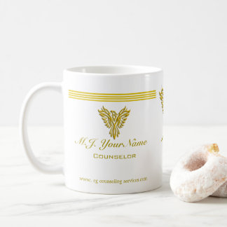 Personal Counselor luxury gold stripes and phoenix Coffee Mug