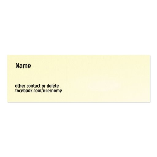 Personal Customizable - Facebook Business Card Template