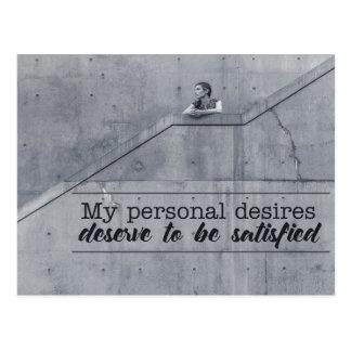 Personal Desires Postcard