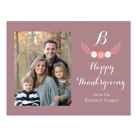 Personal Family Photo Postcard | Thanksgiving