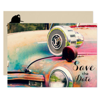 """Personal Firefighters """"Save the Date"""" Invitation"""