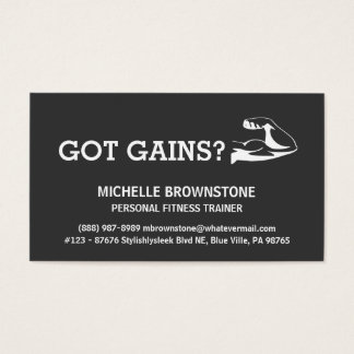 Personal Fitness Health and Wellness Trainer Business Card