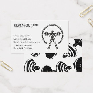 Personal Fitness Trainer Business Business Card