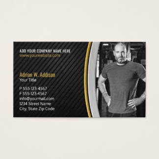Personal Fitness Trainer Gym Boxing Instructor Business Card