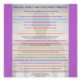 Personal Growth and Development Principles Poster
