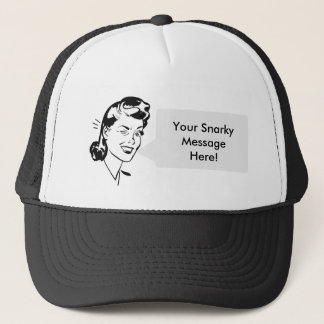 Personal Message - Vintage Lady Speech Bubble! Trucker Hat