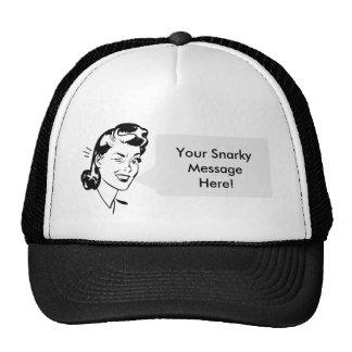 Personal Message - Vintage Lady Speech Bubble! Trucker Hat