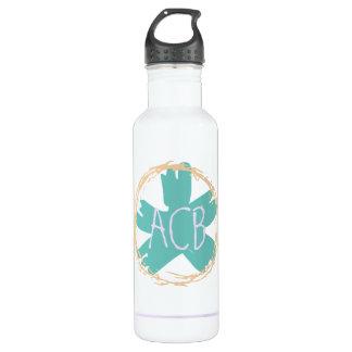 Personal Monogram Sketch Water Bottle