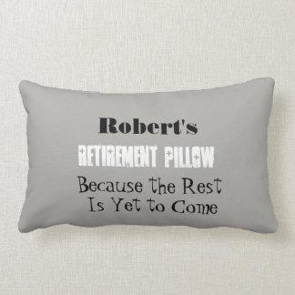 Personal Name Funny Retirement - Lumbar Pillow