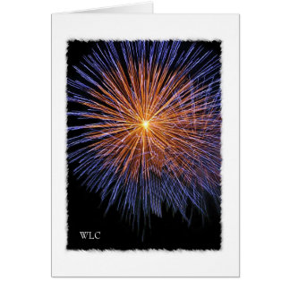 Personal Note Card, July 4th Fireworks Card