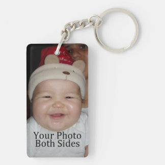 Personal Photo Double-Sided Rectangular Acrylic Keychain