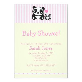 Personal Photo Panda Baby Shower - Pink Card