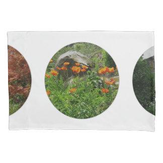 Personal Photos Polka Dots on White Pillowcase