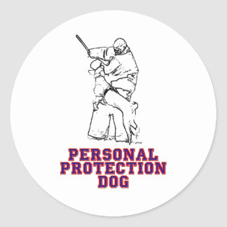Personal Protection Dog Classic Round Sticker