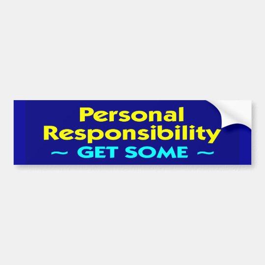 personal_responsibility bumper sticker