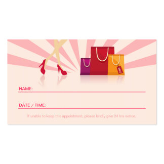 Personal Shopper Appointment Card Business Card