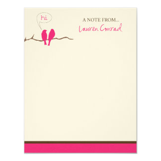 Personal Stationery for Lauren Conrad Card