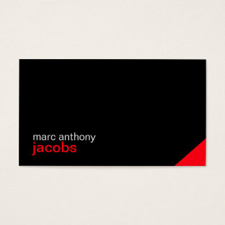 Personal Stylish Minimal Business Card 01 - Red