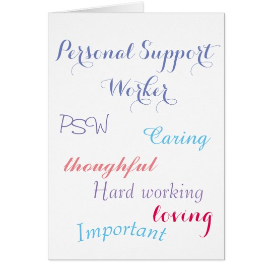 Personal Support Worker PSW Card