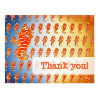 Personal Thank you! | Seahorses Special Pattern Postcard