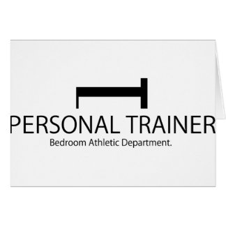 Personal Trainer Bedroom Athletic Department Greeting Card