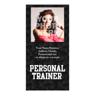 Personal Trainer Black Varsity Personalized Photo Card