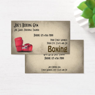 Personal Trainer Boxer Gym Business Card