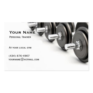 Personal Trainer Double-Sided Standard Business Cards (Pack Of 100)