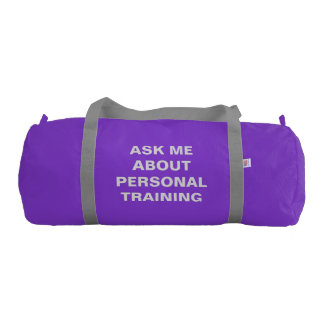 Personal Trainer Duffle Bag Custom Self Promotion