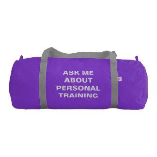 Personal Trainer Duffle Bag Custom Self Promotion