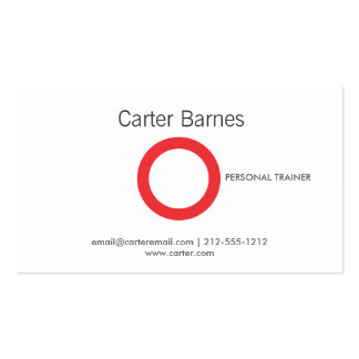 Personal Trainer, Fitness Instructor, Logo Pack Of Standard Business Cards