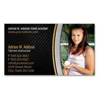 Personal Trainer Fitness Instructor Tennis Coach Magnetic Business Card