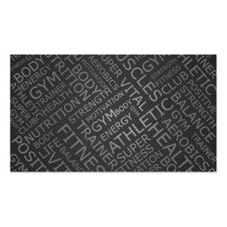 Personal Trainer or Fitness Center Metallic Card Business Card Templates