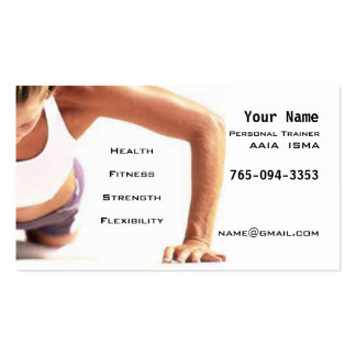 Personal Trainer Pack Of Standard Business Cards