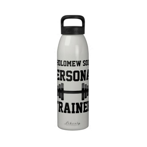 Personal Trainer Water Bottle, Personalized Name