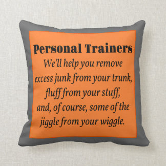 Personal Trainers Throw Pillow