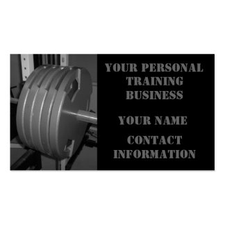 Personal Training Exercise Business Cards
