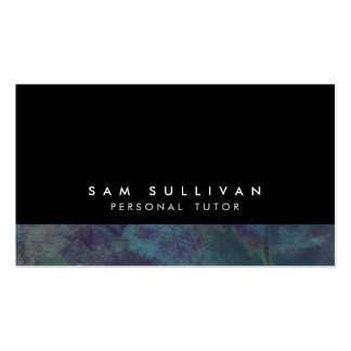 Personal Tutor Teal Grunge Education Training Business Card